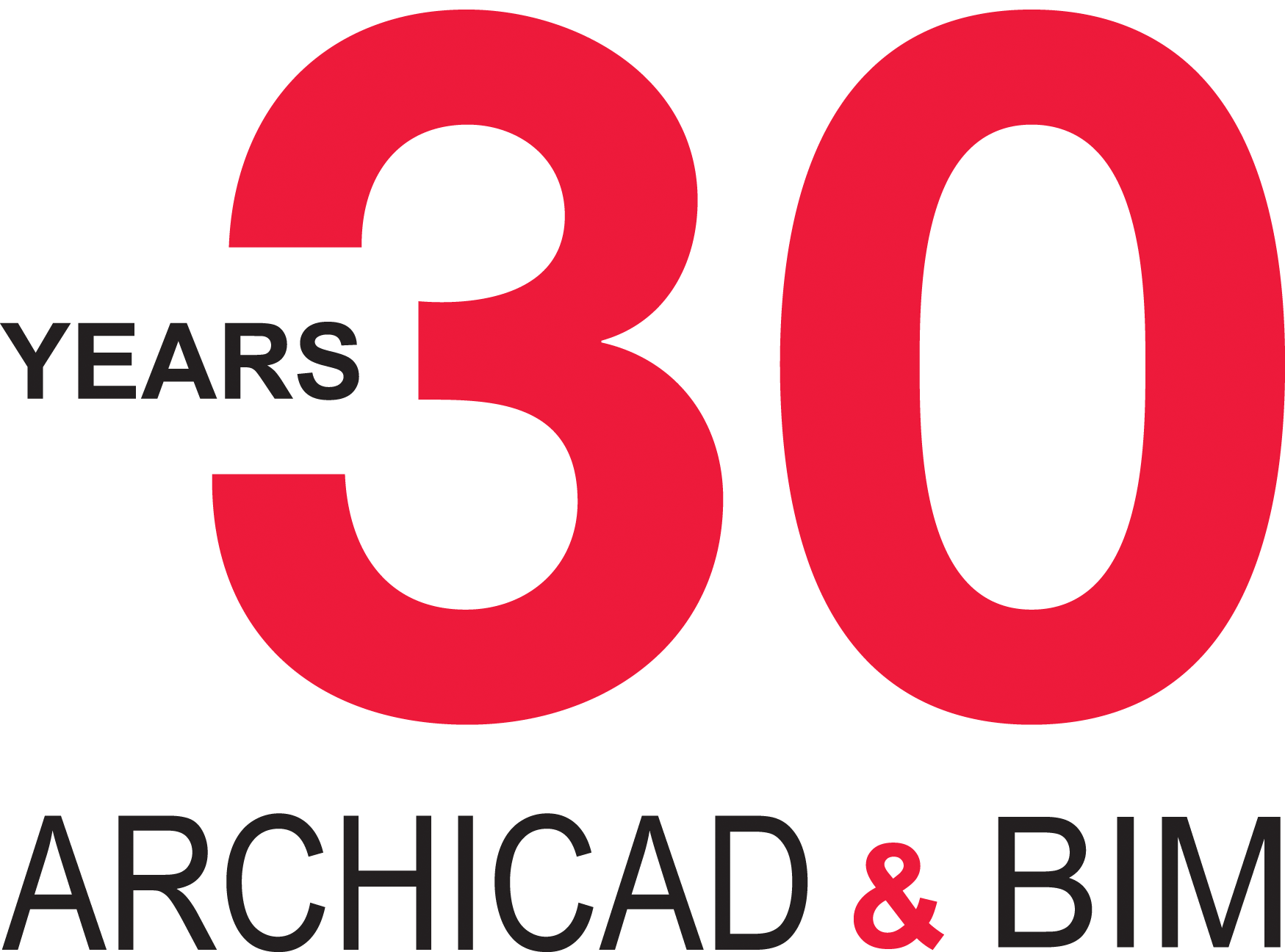 ARCHICAD 30 Years Anniversary logo for use on light background